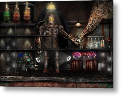Mad Scientist - The Enforcer Metal Print by Mike Savad