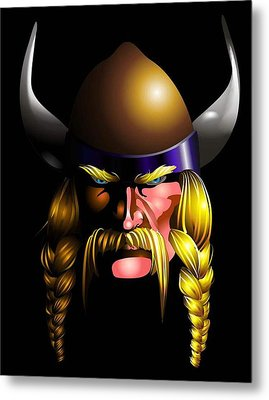 Mad Viking Metal Print