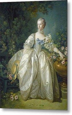 Madame Bergeret, C. 1766 Oil On Canvas Metal Print by Francois Boucher