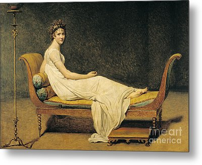 Madame Recamier Metal Print by Jacques Louis David