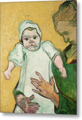 Madame Roulin And Her Baby Metal Print by Vincent Van Gogh