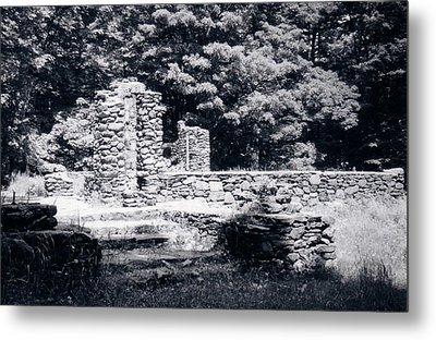Madame Sherri Castle Ruins Metal Print by David Fiske