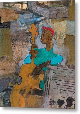 Metal Print featuring the mixed media Madcap Bass by Catherine Redmayne