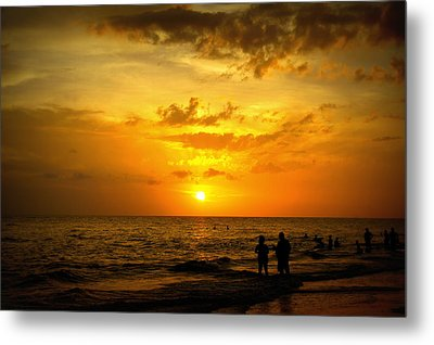 Metal Print featuring the photograph Madeira Sunset by Laurie Perry