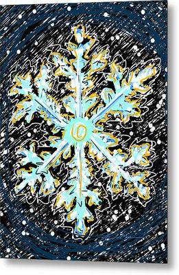 Madeline Snowflake Metal Print by Jean Pacheco Ravinski