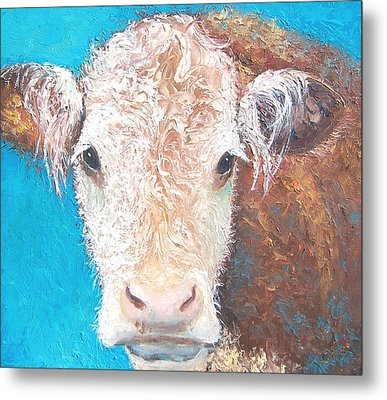 Madelyn The Cow Metal Print by Jan Matson