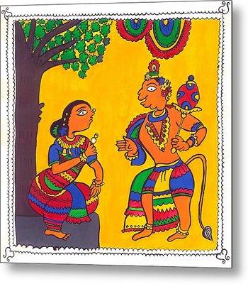 Madhubani Painting Metal Print by Shruti Bhagwat