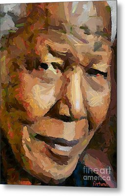 Madiba Metal Print by Dragica  Micki Fortuna