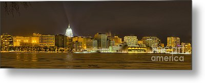 Madison - Wisconsin City  Panorama - No Fireworks Metal Print