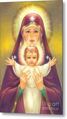 Madonna And Baby Jesus Metal Print