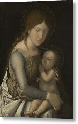 Madonna And Child Metal Print by Andrea Mantegna