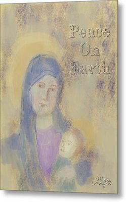Metal Print featuring the digital art Madonna And Child by Arline Wagner