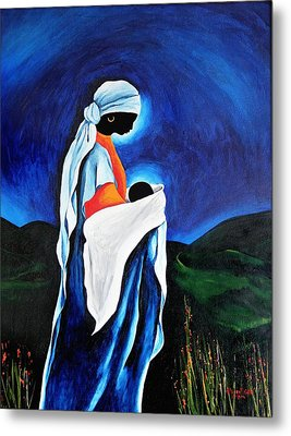 Madonna And Child - Beloved Son, 2008 Metal Print