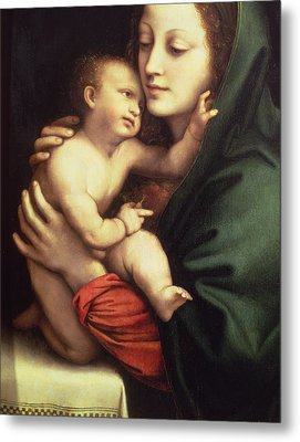 Madonna And Child Metal Print by Bernardino Luini