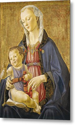Madonna And Child Metal Print by Domenico Bigordi Domenico Ghirlandaio
