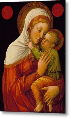 Madonna And Child Metal Print by Jacob Bellini