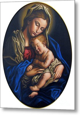 Madonna And Child Metal Print by Jane Whiting Chrzanoska