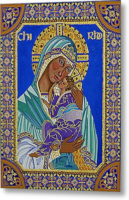 Madonna And Child Metal Print by Janet Ashworth
