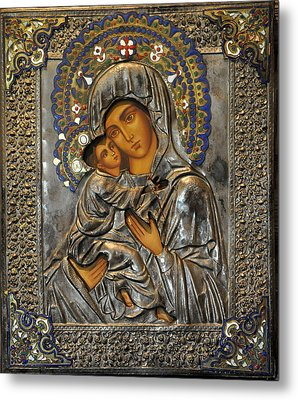 Madonna And Child Metal Print by Jay Milo