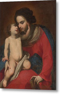 Madonna And Child Metal Print by Massimo Stanzione