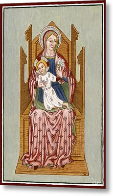 Madonna Col Bambino In Trono - Mother Of God On The Throne. Metal Print by Raffaella Lunelli