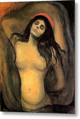 Madonna Metal Print by Edvard Munch