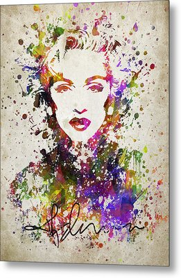 Madonna In Color Metal Print