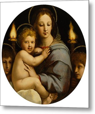 Madonna Of The Candelabra Metal Print