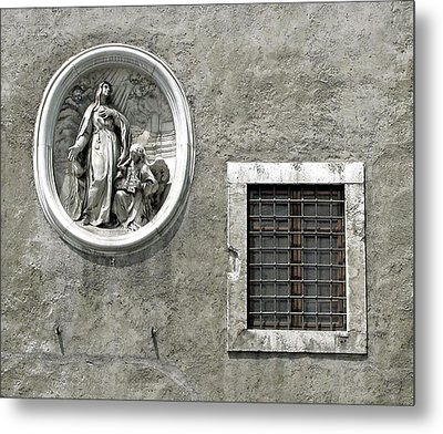Madonna Of The Wall Metal Print by Jean Hall