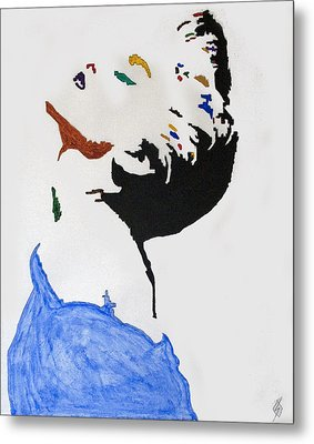 Madonna True Blue Metal Print