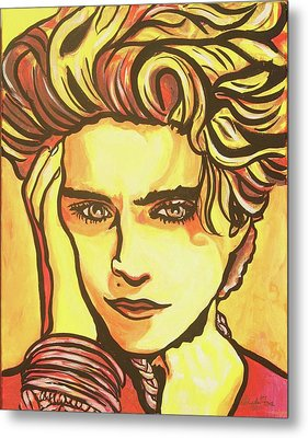 Madonna's Fire Metal Print by Lorinda Fore