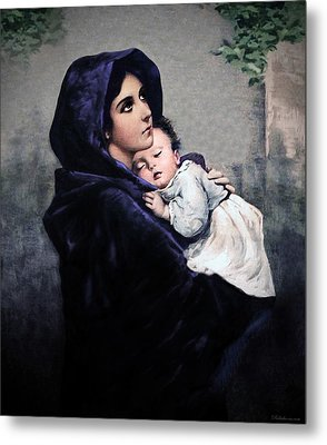 Metal Print featuring the painting Madonnina by A Samuel