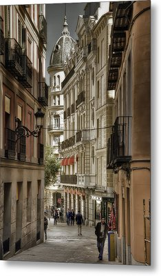 Madrid Streets Metal Print by Joan Carroll