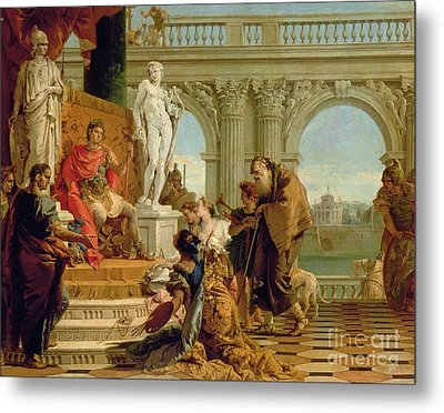 Maecenas Presenting The Liberal Arts To The Emperor Augustus Metal Print by Giovanni Battista Tiepolo