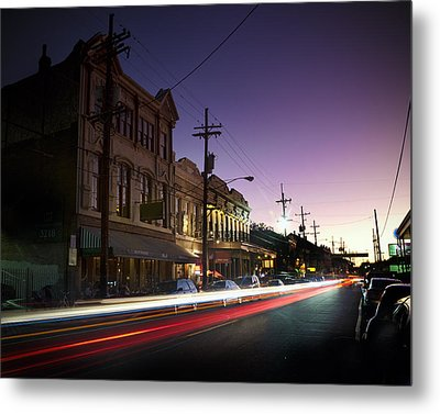 Magazine Street Sunset In Uptown Nola Metal Print