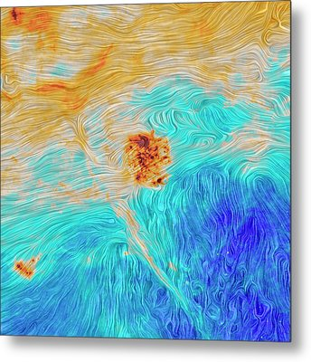 Magellanic Clouds Magnetic Field Metal Print by Planck Collaboration/esa