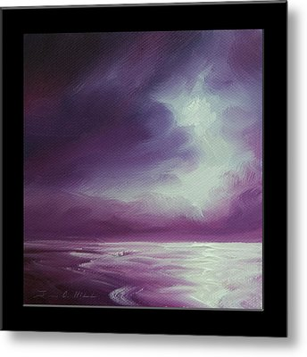 Magenta Moon Iv Metal Print by James Christopher Hill