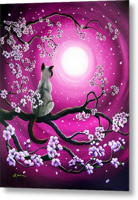 Magenta Morning Sakura Metal Print by Laura Iverson