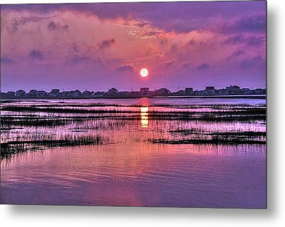 Magenta Sunrise Metal Print