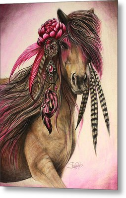 Magenta Warrior  Metal Print by Sheena Pike