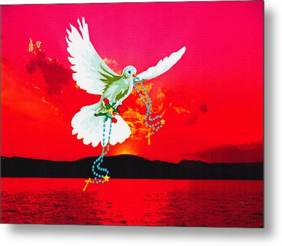 Metal Print featuring the digital art Magestic Sun by Mary Anne Ritchie