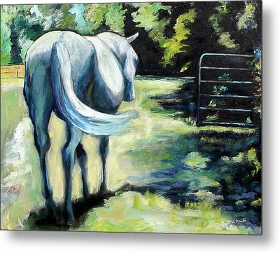Maggie The Horse In The Pasture Metal Print