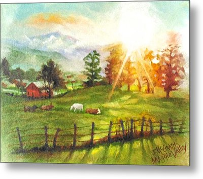 Maggie Valley Sunrise Metal Print by Janet McGrath