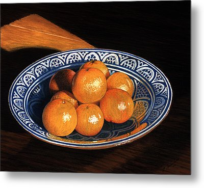 Maggie's Oranges Metal Print by Norm Holmberg