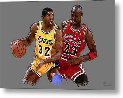 Magic And Michael Metal Print