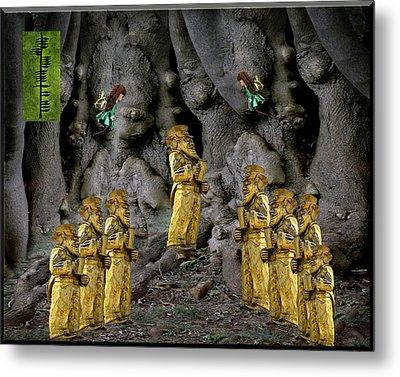 Magic As The Tree People Celebrate Health Metal Print by LeeAnn McLaneGoetz McLaneGoetzStudioLLCcom