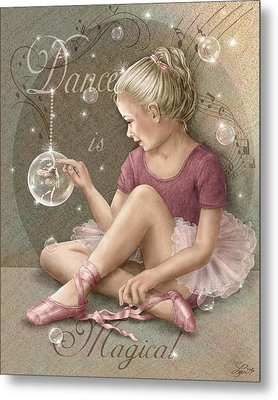 Magic Ballerina Metal Print by Beverly Levi-Parker