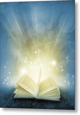 Magic Book Metal Print by Les Cunliffe