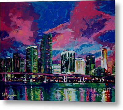 Magic City Metal Print by Maria Arango