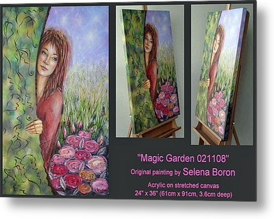 Metal Print featuring the painting Magic Garden 021108 Comp by Selena Boron